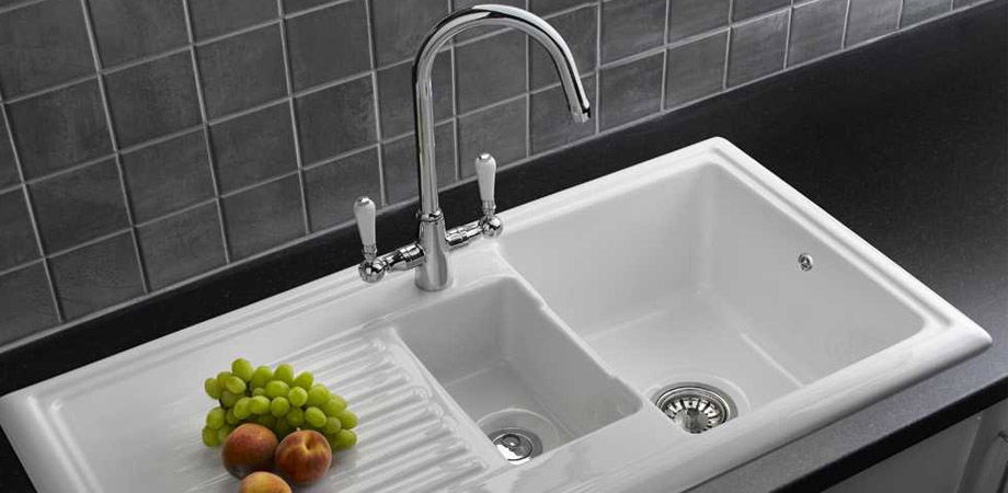 Reginox kitchen sink with mixer tap