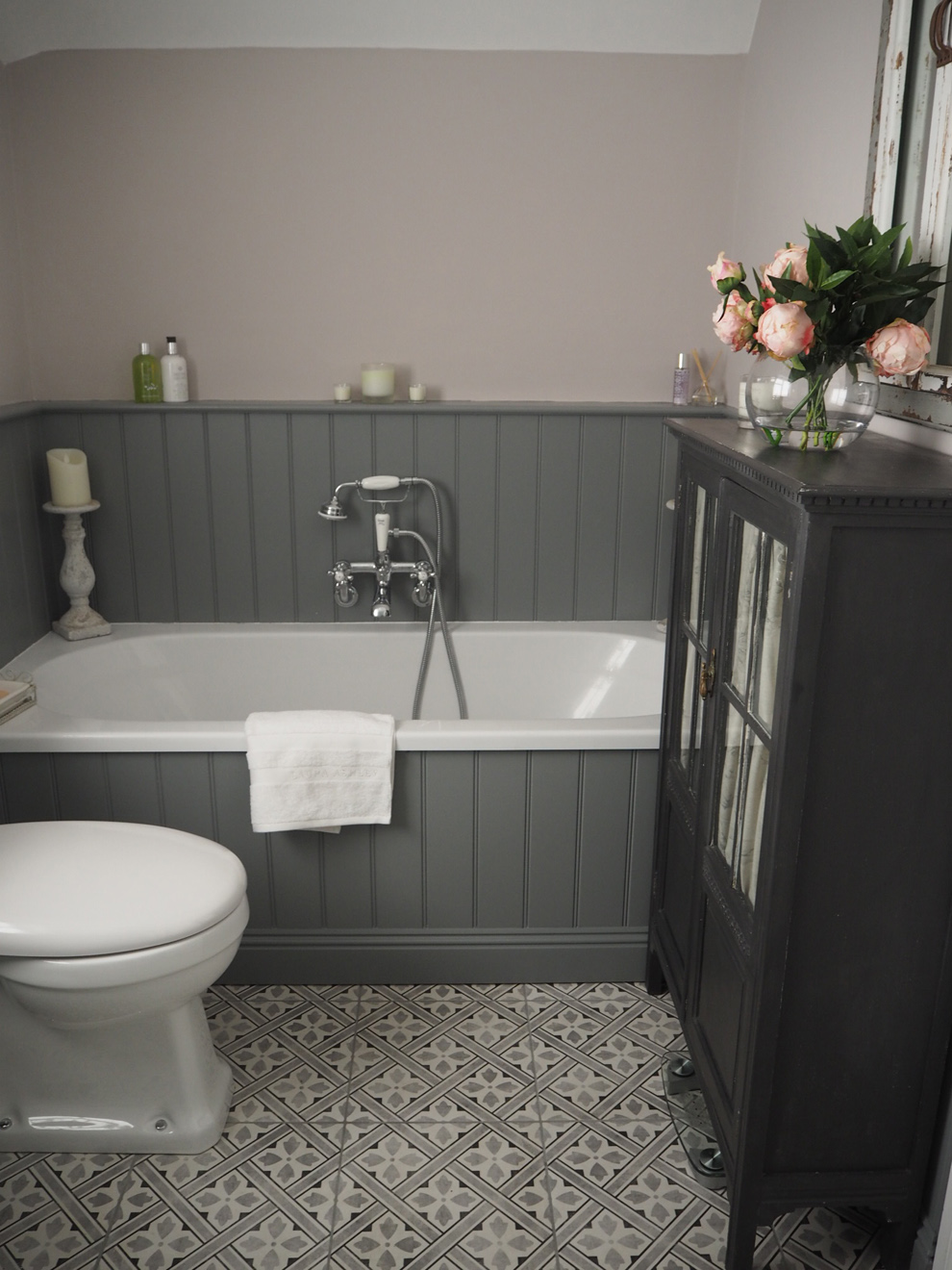 laura ashley bathroom lighting sally s traditional grey bathroom customer bathrooms 19132