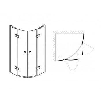 Simpsons - Design Quadrant Double Hinged Door Enclosure - 2 Size Options profile large image view 2