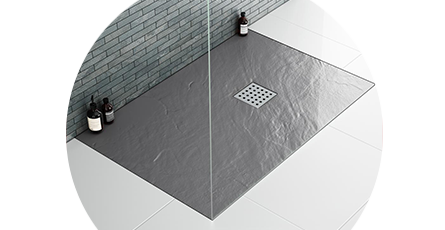 slate effect shower trays