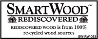 Logotype for SmartWood Rediscovered wood