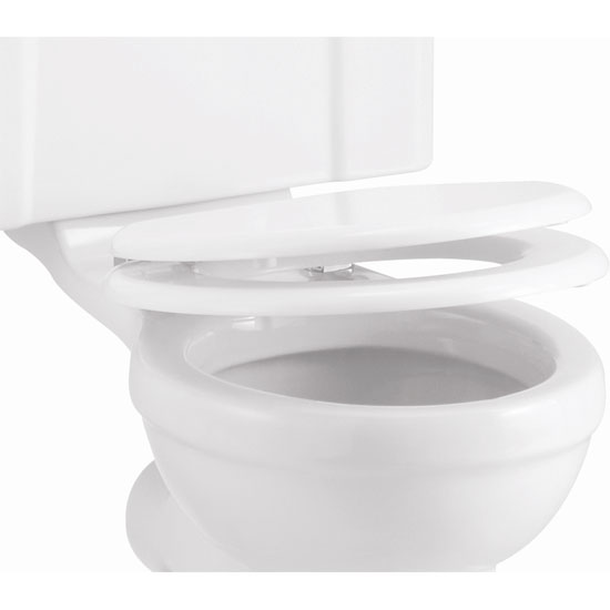 Burlington Soft Close Toilet Seat - Gloss White Seat - S18 Large Image