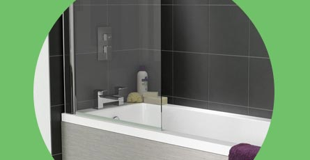 Square Bath Screen