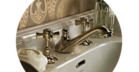 traditional gold taps