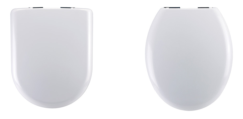 Oval and round toilet seats