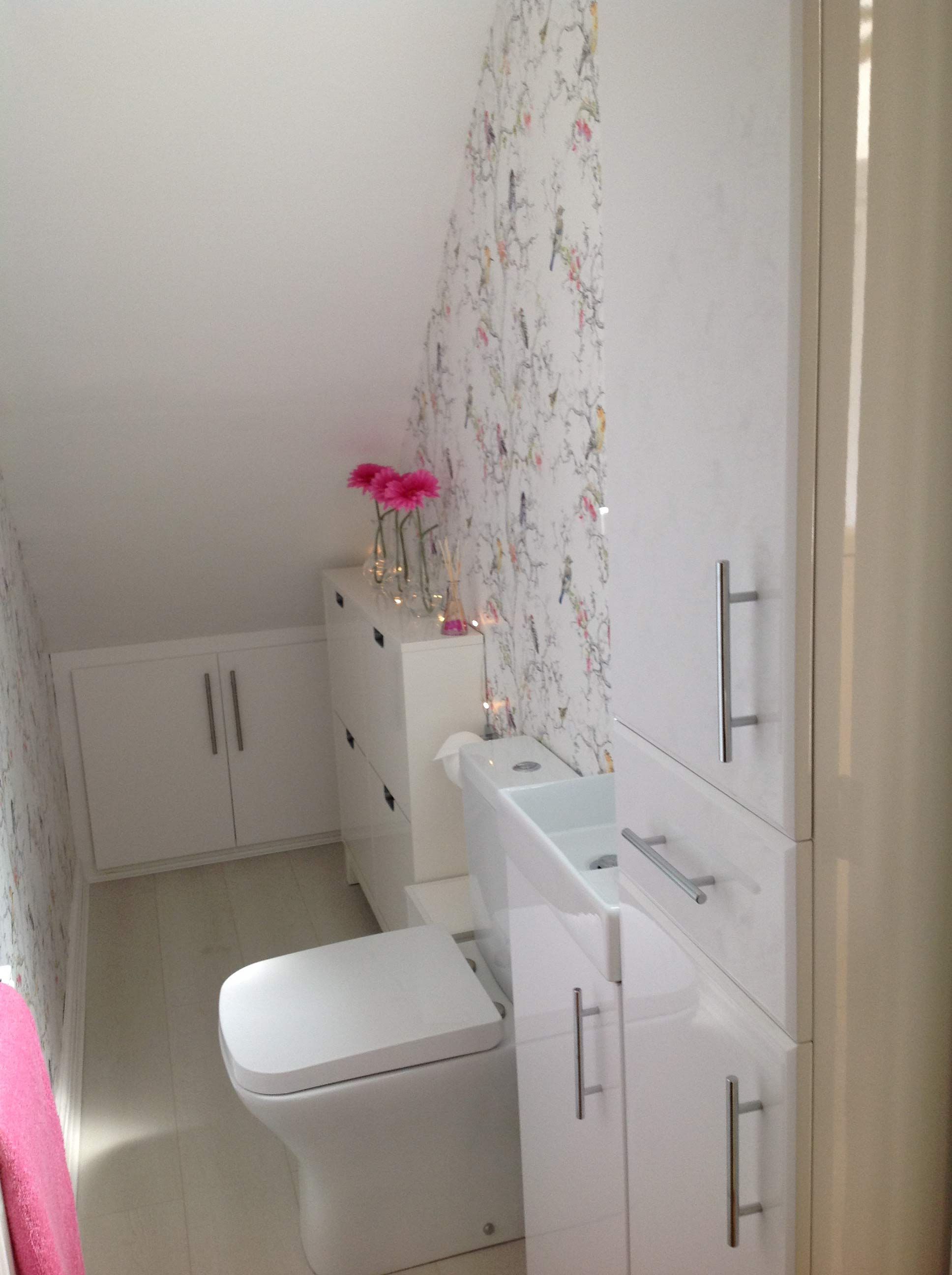 Tracey's white under stairs bathroom | Tracey's Under Stairs Bathroom - Barnoldswick, Lancashire