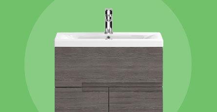 urban grey wood bathroom furniture