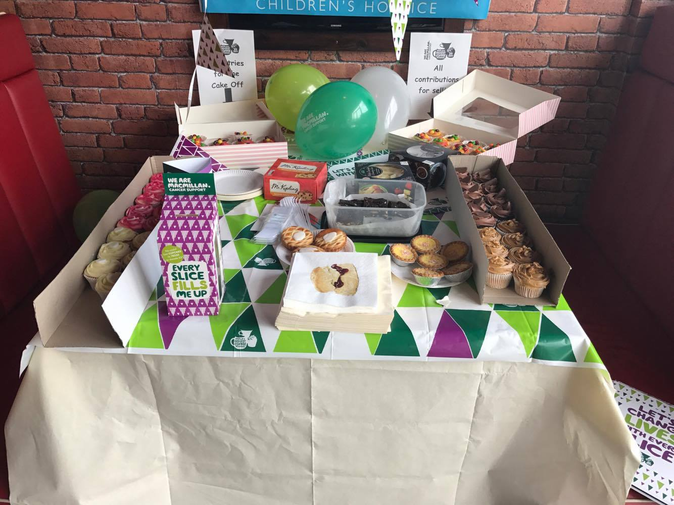 VP Cake Off Cake Table | Macmillan Coffee Morning 2017
