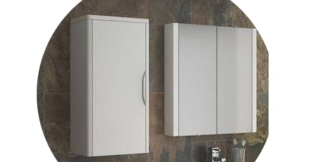 wall hung cabinets  sc 1 st  Victorian Plumbing & Wall Mounted Bathroom Cabinets | Bathroom Storage | Victorian Plumbing