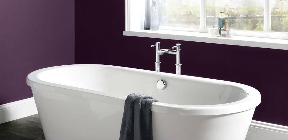Modern freestanding bathtub and taps
