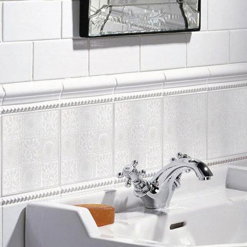 White Bohemian Decor Tiles