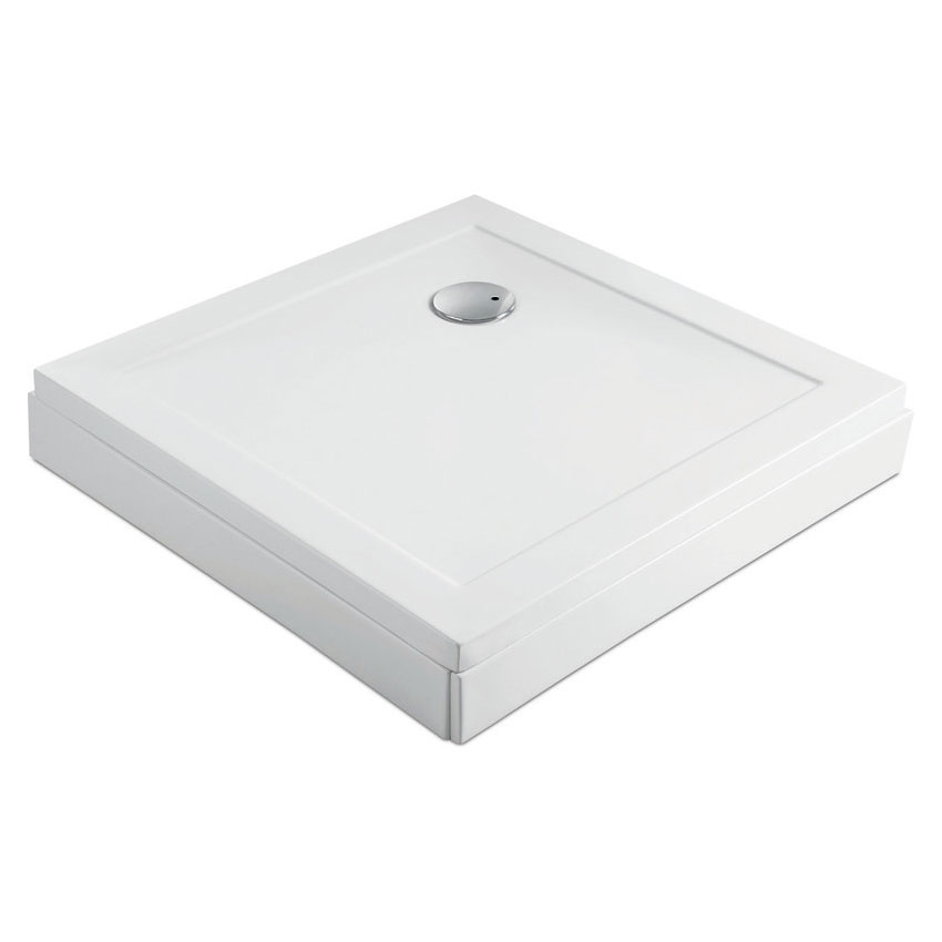 Zamori - 35mm Square Shower Tray with Upstand and Leg & Panel Set - Various Size Options profile large image view 3